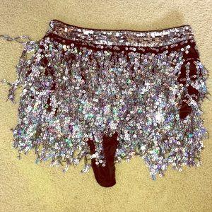 Boohoo sequin cheeky rave shorts